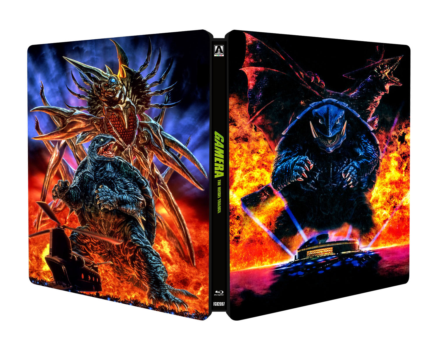 Win GAMERA: THE HEISEI TRILOGY Limited Edition Blu-ray Steelbook From Arrow Video US and MVD Entertainment!